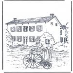Disegni da colorare Vari temi - Davanti alla casa