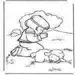 Disegni biblici da colorare - Davide 2