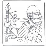 Disegni biblici da colorare - Davide e Golia 1