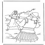 Disegni biblici da colorare - Davide e Golia 2