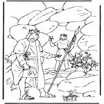 Disegni biblici da colorare - Davide e Saul