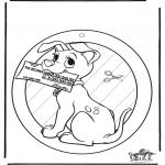 Lavori manuali - Decorazione finestra - 102 Dalmati 1