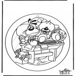 Lavori manuali - Decorazione finestra 2