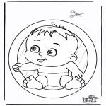 Lavori manuali - Decorazione finestra - bambino