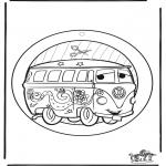 Lavori manuali - Decorazione finestra Cars