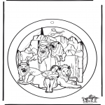 Disegni biblici da colorare - Decorazione finestra Daniele