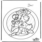Disegni da colorare Natale - Decorazione finestra di Natale 1