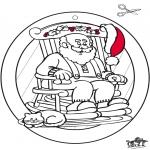 Disegni da colorare Natale - Decorazione finestra di Natale 4
