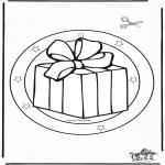 Disegni da colorare Natale - Decorazione finestra di Natale 5