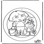 Lavori manuali - Decorazione finestra - Dora 1
