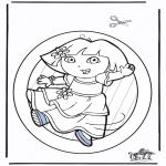 Lavori manuali - Decorazione finestra - Dora 2