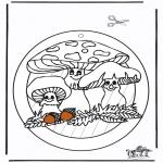 Lavori manuali - Decorazione finestra - Fungi