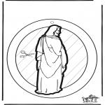 Disegni biblici da colorare - Decorazione finestra Gesù
