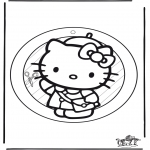 Lavori manuali - Decorazione finestra Hello Kitty