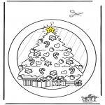 Disegni da colorare Natale - Decorazione finestra - Natale 2