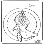 Lavori manuali - Decorazione finestra Tarzan