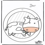 Lavori manuali - Decorazione finestra - Vacca 1