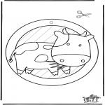 Lavori manuali - Decorazione finestra - Vacca 2