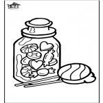 Lavori manuali - Decorazione su vetro - Caramella
