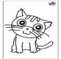 Decorazione su vetro - gatto