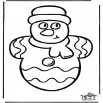 Disegni da colorare Natale - Decorazione su vetro Natale 1