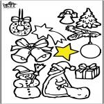 Disegni da colorare Natale - Decorazioni di Natale 4