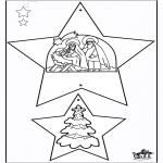 Disegni da colorare Natale - Decorazioni di Natale - Bibbia 1