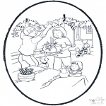 Disegni da bucherellare - Decorazioni natalizie