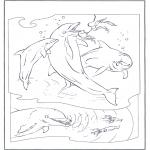 Disegni da colorare Animali - Delfini 2