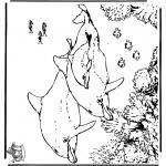 Disegni da colorare Animali - Delfini 5