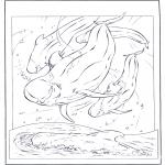 Disegni da colorare Animali - Delfino bianco