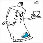 Disegni da colorare Vari temi - Dentifricio