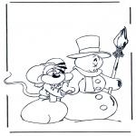 Disegni da colorare Inverno - Diddl Inverno 1