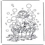 Personaggi di fumetti - Diddl Nel bagno