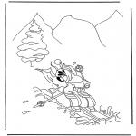 Personaggi di fumetti - Diddl sugli sci