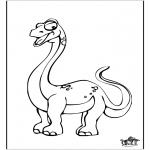 Disegni da colorare Animali - Dinosauro 10