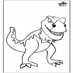 Disegni da colorare Animali - Dinosauro 11