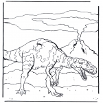 Disegni da colorare Animali - Dinosauro 4
