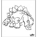 Disegni da colorare Animali - Dinosauro 9