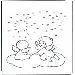 Lavori manuali - Disegna seguendo i numeri ' angeli