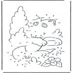 Lavori manuali - Disegna seguendo i numeri ' animale