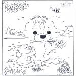 Lavori manuali - Disegna seguendo i numeri ' Cane 3