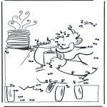 Lavori manuali - Disegna seguendo i numeri ' cibo