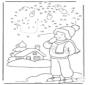 Disegna seguendo i numeri ' inverno
