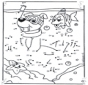 Disegna seguendo i numeri ' nuoto