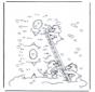 Disegna seguendo i numeri ' orsetti del cuore 1