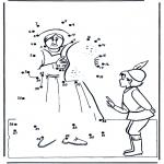 Lavori manuali - Disegna seguendo i numeri ' ragazzino