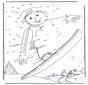 Disegna seguendo i numeri ' snowboard 1