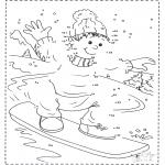 Lavori manuali - Disegna seguendo i numeri ' snowboard 2