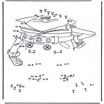 Lavori manuali - Disegna seguendo i numeri ' spia
